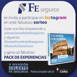 FE Seguros sortea en Instagram un pack de experiencias.